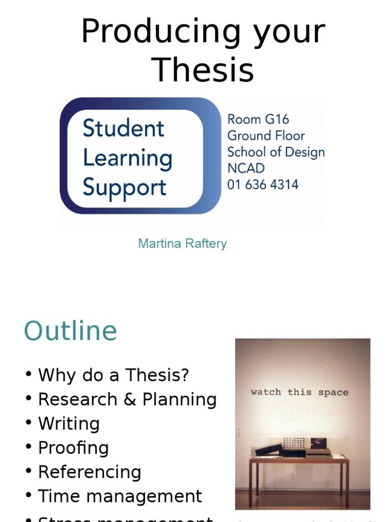 thesis handbook ncad
