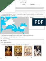 Test de Evaluare - Geneza Societatii Medievale