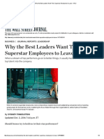 Why the Best Leaders Want Their Superstar Employees to Leave - WSJ