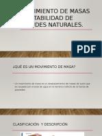 Movimiento de Masas y Estabilidad de Taludes Naturales