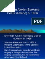 Sherman Alexie (Spokane-Coeur d'Alene) b