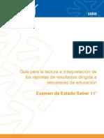Guia Lectura e Interpretacion Reportes Resultados Para Secretarias Educacion Saber 11