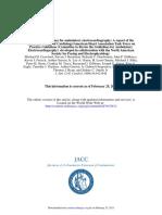 1999 AHA Guidelines for Ambulatory Echo