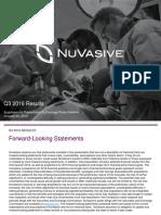 Nuvasive Third Quarter 2016 Presentation