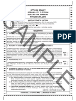 Burlington Ballot Nov 2016