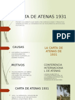 Carta de Atenas 1931 Ultimo