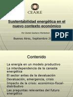Sustentabilidad Energética en El Nuevo Contexto Económico