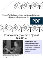 Linguagem radiojornalismo
