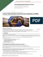 5 Dicas Sobre Direitos Humanos Para a Redação Do ENEM