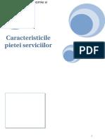 Caracteristicile pietei serviciilor
