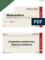 01 Álgebra Números Enteros