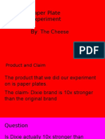 product claims experiment-cheese