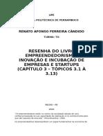 UPE- Empreendedorismo, Capítulo 3a - Renato Afonso