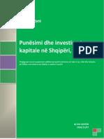 Punësimi Dhe Investimet Kapitale Në Shqipëri, 2016