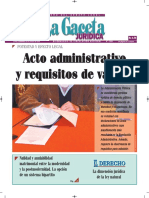 Acto Administrativo y Requisitos de Validez - La Gaceta Jurídica - Autor José María Pacori Cari
