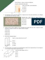 Exercícios de Reforço - Areas e Volume de Figuras