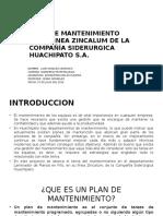 Plan de Mantenimiento Compañia Siderurgica Huachipato