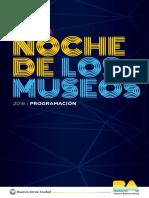 Programacion La Noche de Los Museos 2016