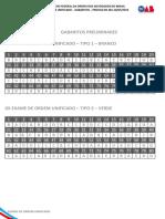 Fgv 2016 Oab Exame de Ordem Unificado Xx Primeira Fase Gabarito