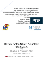 Neurology Shelf Exam Review - Part 1