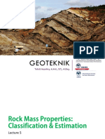 TUGAS IV Geotek - 05 - Rock Mass Properties; Classification & Estimation
