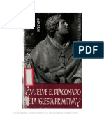 HORNER, J. - Vuelve El Diaconado de La Iglesia Primitiva - Herder, 1962