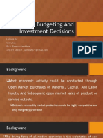 Capital Budgeting and Investment Decision