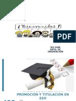 Orden de Evaluación Promoción y Titulación en Eso