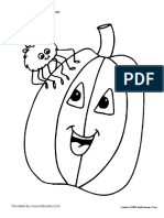 Spider and Jacko Lantern Halloween Coloring Page