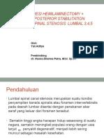 Lapsus Spinal Stenosis