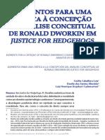 Lois, Almeida, Cademartori (2014)-Elementos Para Uma Crítica à Concepção de Análise Conceitual de Ronald Dworkin Em Justice for Hedgehogs