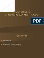 Mechanics Molecular Kinetic Theory