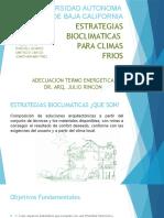 Estrategias bioclimáticas para clima frío