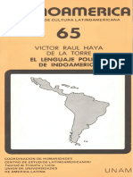 Haya de La Torre Raul Victor Indoamerica