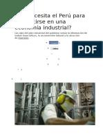 Industrializacion Del Peru