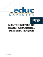 Mantenimiento de Transformadores de Media Tension