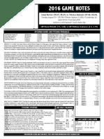 2016 Salem Red Sox Game Notes