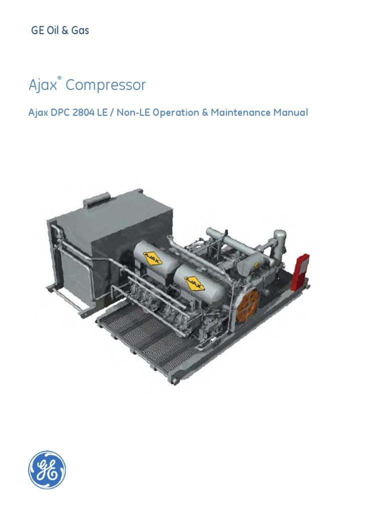 ajax dpc 2804 o m manual piston gas compressor rh es scribd com Ajax Engine Valve Ajax Air Compressor Parts