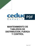 Mant. de Tabl de Distribucion, Fuerza y Control