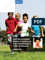 Expert Panel on Integrated Guidelines for Cardiovascular Health and Risk Reduction in Children and Adolescents