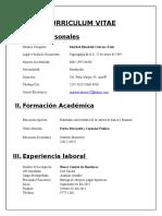 Formato de Curriculum.