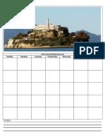Alcatraz Close Up View Calendar