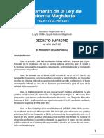 3. Reglamento de La Ley de Reforma Magisterial Ds Nº 004-2013-Ed
