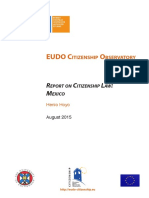 Hoyo, H (2015) Report on Citizenship Law - Mexico [Elect]