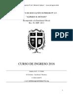 Ies Pt- 215- a.bufano- Ingreso 2016
