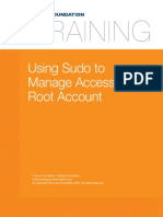 17. Local Security Using Sudo to Manage Access to the Root Account