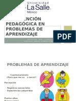Intervencion Pedagogica Con Problemas de Aprtendizaje