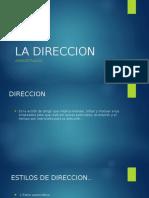 Exposicion ( DIRECCION)