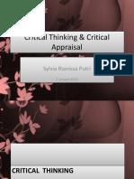 Critical Thinking & Critical Appraisal