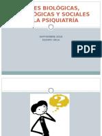 Bases Biológicas, Psicologicas y Sociales de La Psiquiatria